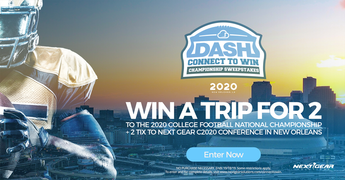 DASH Connect to Win Championship Sweepstakes