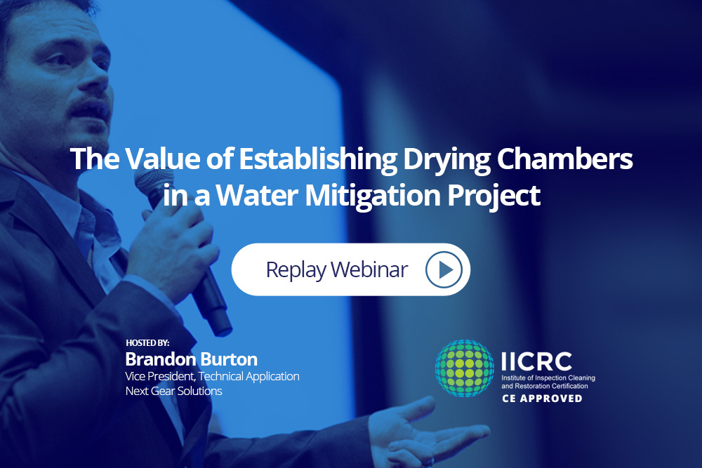 Restoration Webinar - Value of Establishing Drying Chambers