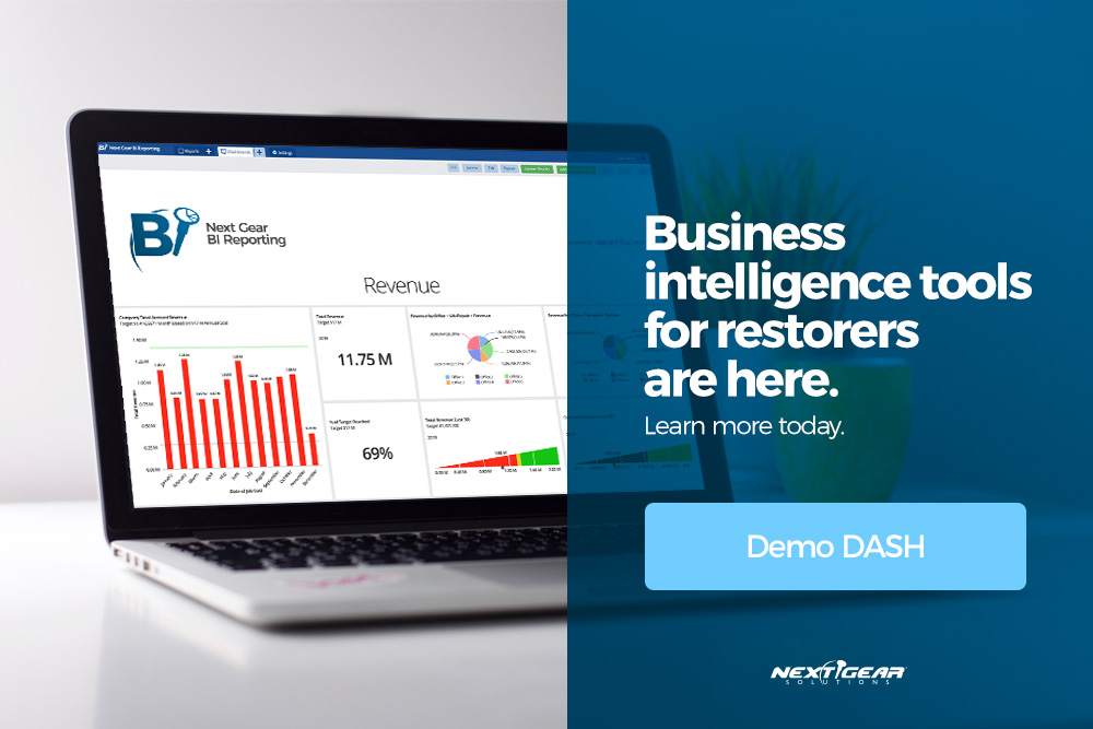 BI Reporting for DASH Restoration Business Software - Next Gear Solutions