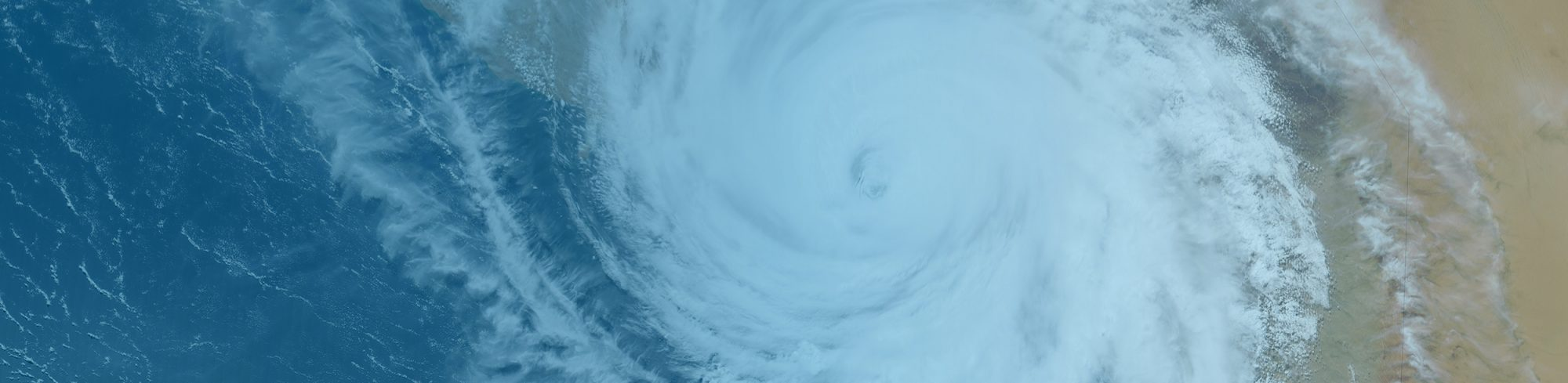 Satellite view of a huricane