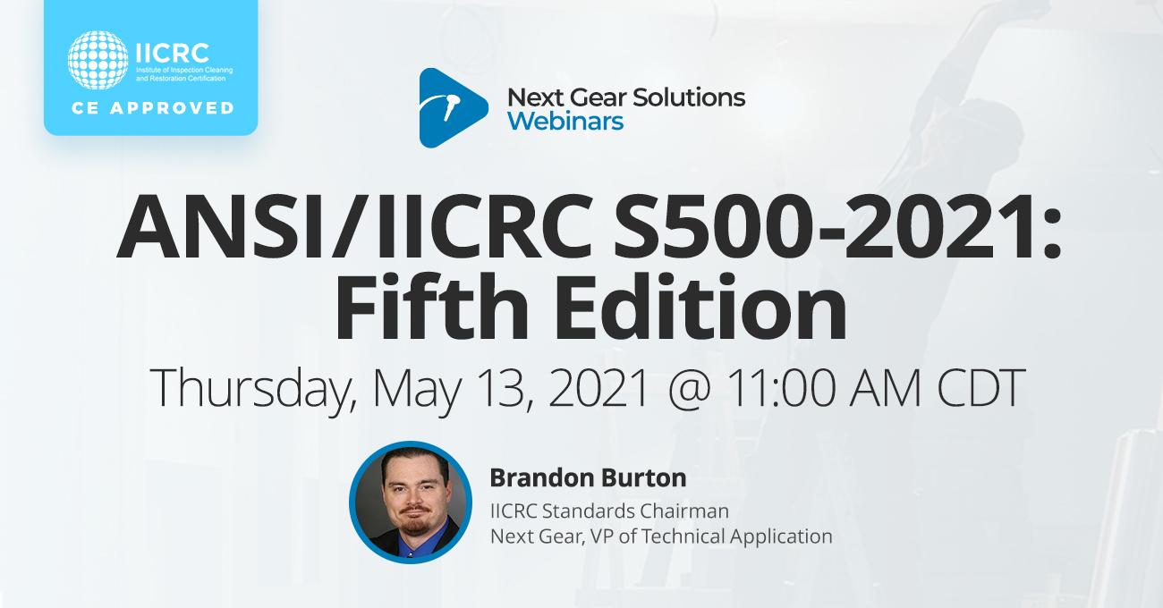 ANSI/IICRC S500 Webinar